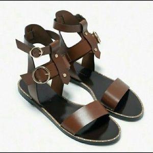 062e5f9eb597 Women s Brown Zara Gladiator Sandals on Poshmark